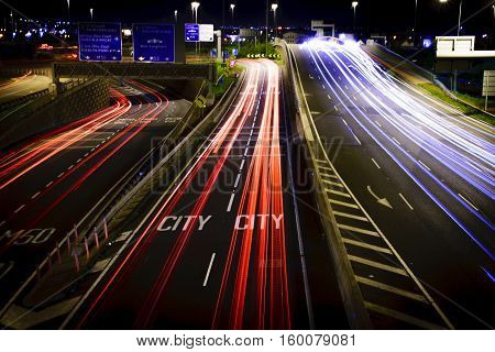 Long Exposure, Red Cow, M50 Highway, Dublin Ireland