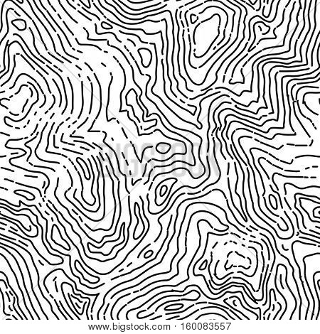Seamless topographic contour map pattern. seamless background.