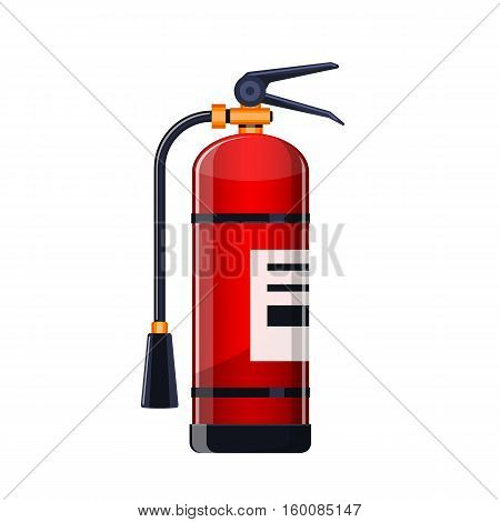 Realistic Fire extinguisher icon isolated on white