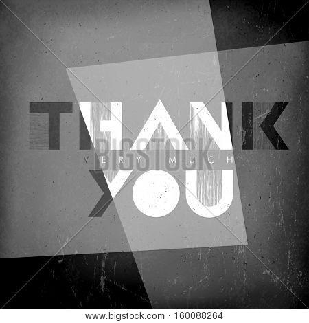 Thank you card. Film noir styled.
