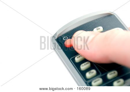 Pressing Power Button On Remote