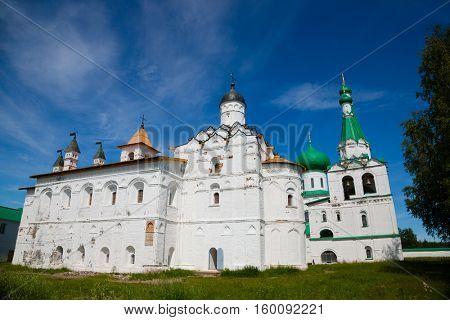 Trinity complex Holy Trinity Alexander Svirsky Monastery in Karelia, north of Russia.