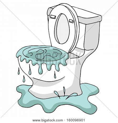 An image of a Clogged Toilet.