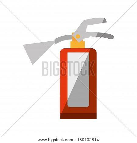 cartoon fire extinguisher safety security industrial shadow vector illustration eps 10