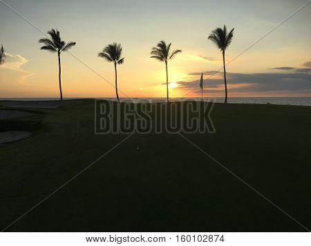 Sunset Golf at Hawaii Big Island Resort