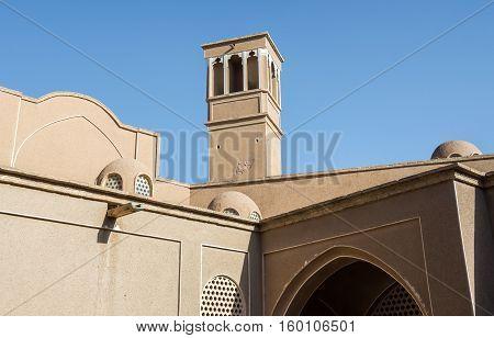 Wind catcher tower in Kashan city Iran