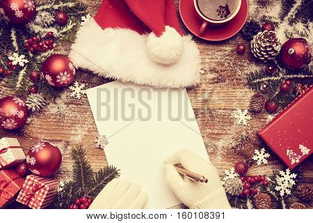 a letter from Santa Claus, Christmas gifts