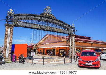 Kota Kinabalu,Sabah-Nov 28,2016:Jesselton Point Waterfront at Kota Kinabalu,Sabah.Its a place to serves as ferry terminal for the Tunku Abdul Rahman Marine Park & Gayana Island,tourist attraction.