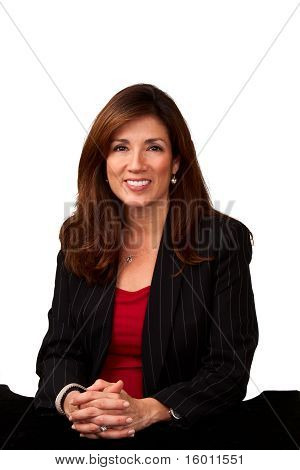 Stock Photo: Portrait of a mature pretty businesswoman