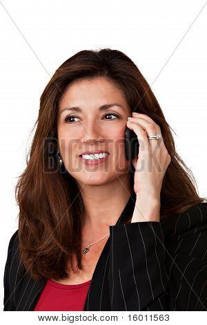 Portrait of pretty  mature woman.
