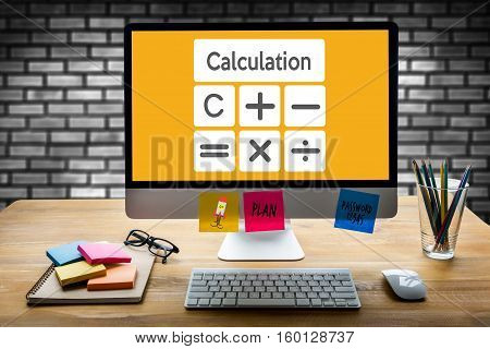 Calculation Business Finance Investment Accounting Banking Budget Calculator ,  Pressing Calculator