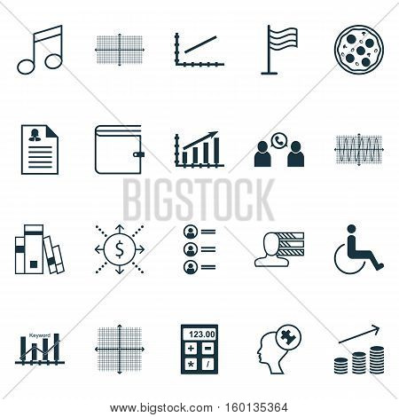 Set Of 20 Universal Editable Icons. Can Be Used For Web, Mobile And App Design. Includes Elements Such As Personal Skills, Phone Conference, Wallet And More.