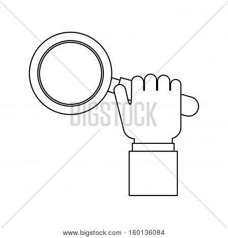 Lupe tool icon. Search magnifying glass zoom and lens theme. Isolated design. Vector illustration