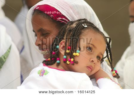 JERUSALEM - APRIL 21: parishioners of the Coptic Church are awaiting the commencement ceremony in his aisle on Good Friday April 21, 2006 in Jerusalem, Israel.
