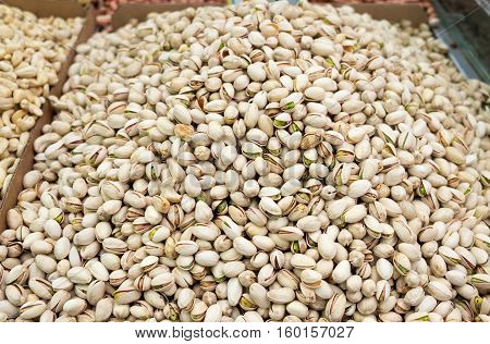 Roasted And Salted Pistachios For Sale At City Market