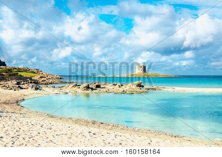 A view of a wonderful beach in Stintino, Sardinia, Italy