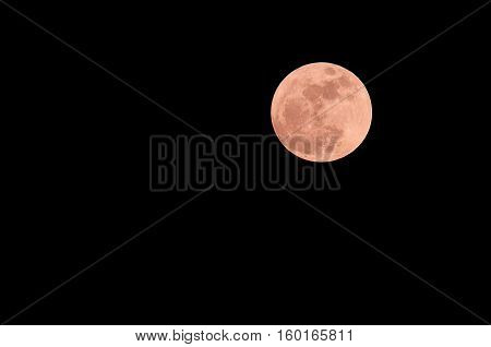 Supermoon2016/11/14 Bangkok Thailand Super moon is new Moon or full moon at its closest point to Earth
