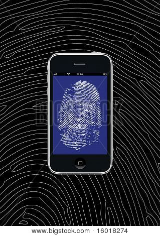 Smartphone With Fingerprint Wallpaper