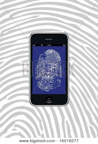 Smartphone With Fingerprint Wallpaper