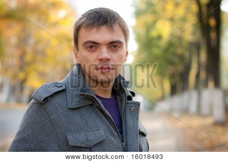 Portrait Of A Young Man With A Keen Eye On The Street