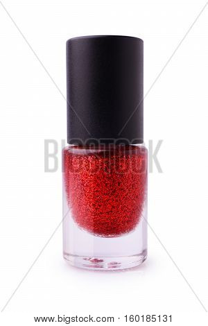 Red Nail Polish With Glitter