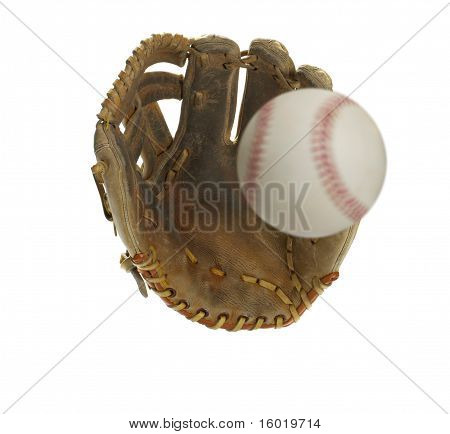 Baseball Heading for the Glove