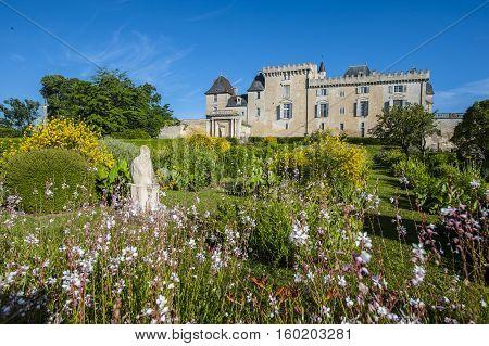 Castle Of Vayres In Gironde