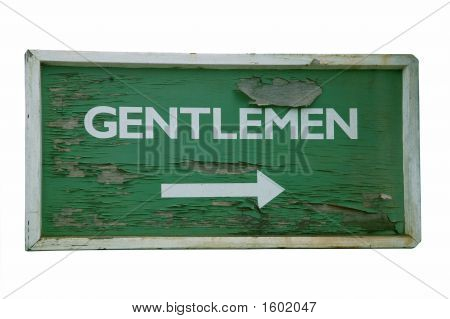 Old Sign Gentlemen