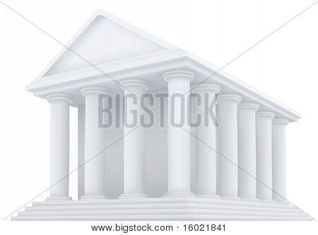 vector illustration of an ancient building