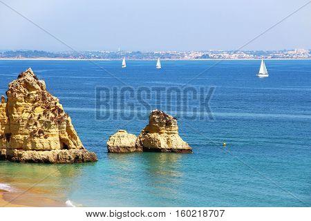Dona Ana beach (Praia Dona Ana) in Lagos, Algarve, Portugal