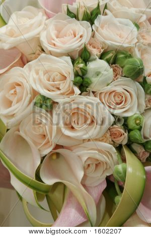 Wedding Bouquet From Beautiful Roses