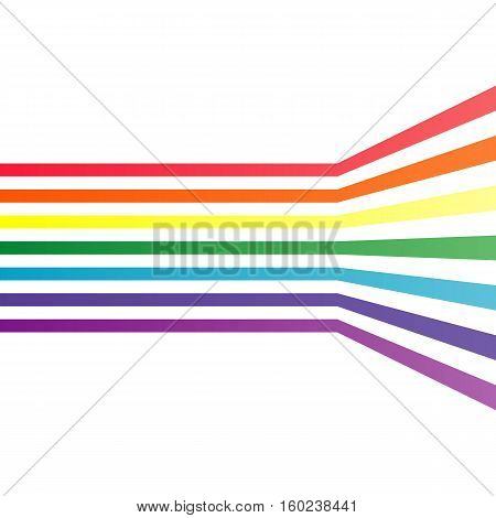 Vector abstract background. Colorful stripes background for modern design. Effect of optical illusions.