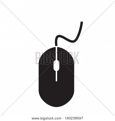 mouse icon on white background. mouse sign.