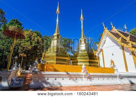 Wat Phra That Doi Tung in Chiang Rai Thailand