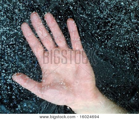 Hand Under the Ice