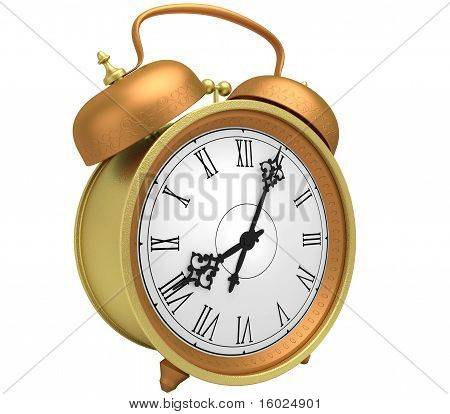 Clock With A Hand Bel