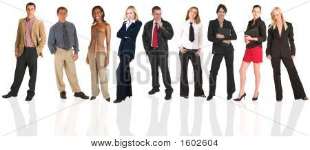 Businessmen And Businesswoman As An Isolated Group