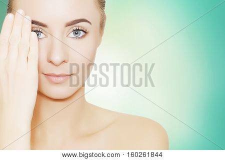 beauty woman portrait spa and pampering concept