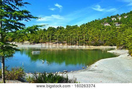 Beletsi lake near to Parnitha mountain Attica Greece
