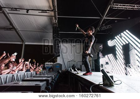 NEW YORK, NY - JUNE 18, 2016: Bassjackers perform at Governors Club on Governors Island, June 18, 2016 in New York City