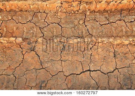 Dry terrain ground