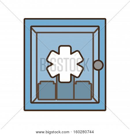 cabinet first aid kit medical cross symbol vector illustration eps 10