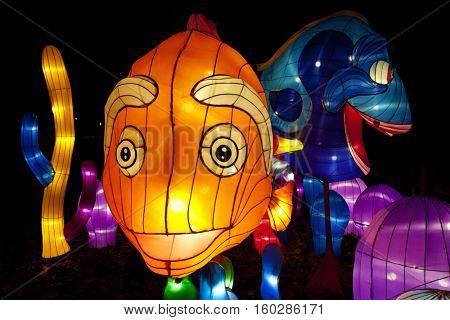 COLUMBUS, OHIO - NOVEMBER 27, 2016:  Columbus hosted the Chinese Lantern Festival for the holiday season at the Ohio State fairgrounds.
