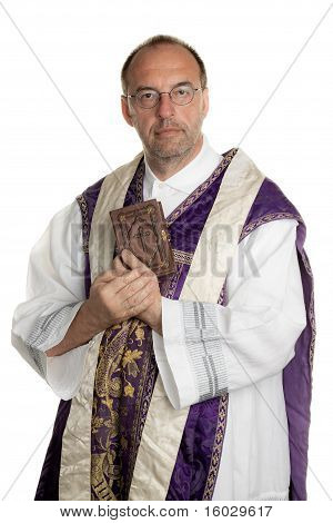 Catholic Priest with Bible