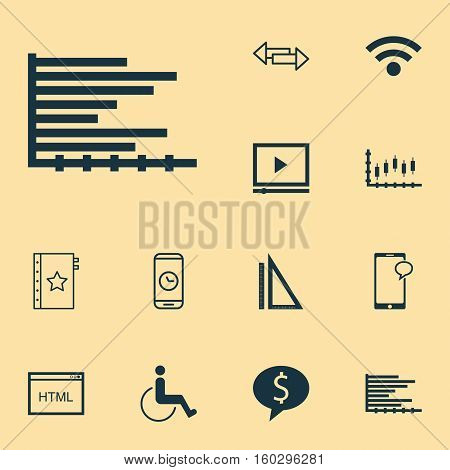 Set Of 12 Universal Editable Icons. Can Be Used For Web, Mobile And App Design. Includes Elements Such As Business Deal, Messaging, Wireless And More.
