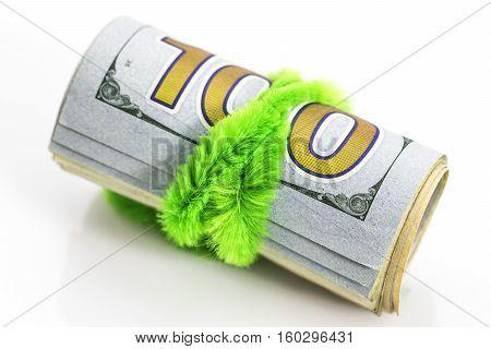 Background Of Dollar Bills, Money From Usa