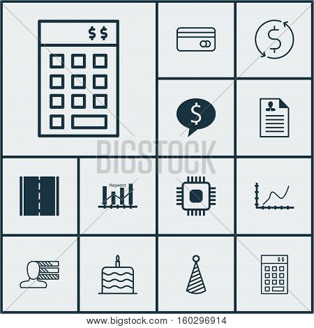 Set Of 12 Universal Editable Icons. Can Be Used For Web, Mobile And App Design. Includes Elements Such As Investment, Photo Camera, Money Trasnfer And More.