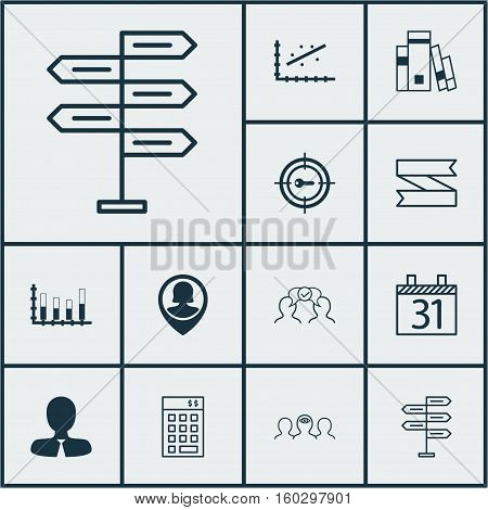 Set Of 12 Universal Editable Icons. Can Be Used For Web, Mobile And App Design. Includes Elements Such As Library, Manager, Coaching And More.