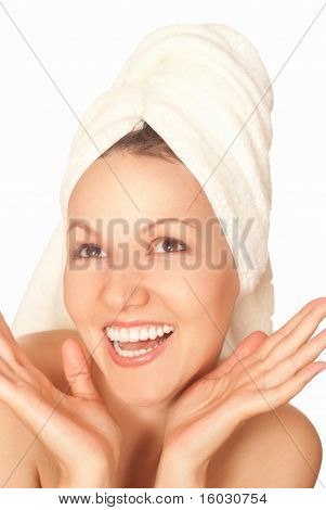 Beautiful Happy Woman Standing