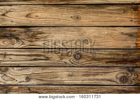Closeup of grunge wooden wall background, vintage style